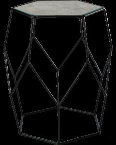 Metallipöytä lasikannella