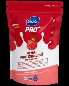 Valio PROfeel® heraproteiinilisä 600 g mansikkainen laktoositon