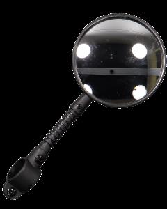 Fg peili 3' pyöreä malli musta