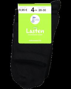 Sukkamestarit lasten sukat 4 pr musta