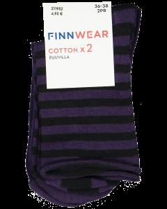 Finnwear naisten puuvillanilkkasukat 2 pr
