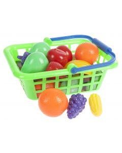 Lasten ostoskori ja hedelmät