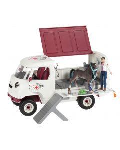 Schleich liikkuva eläinlääkäri ja auto