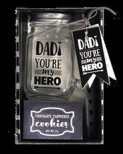 Lasimuki lahjapakkaus isälle