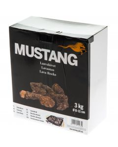 Mustang laavakivet kaasugrilliin