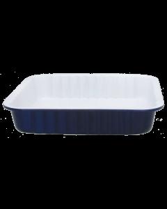 Sinivalkoinen neliövuoka 25cm