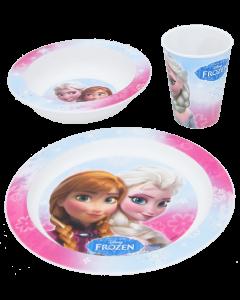 Frozen muovinen astiasetti