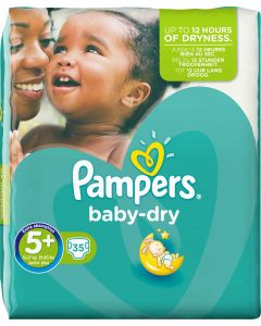 Pampers BabyDry S5+ 13-25 kg  43 kpl
