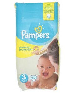 Pampers Premium Protection S3 4-7kg vaippa 50 kpl