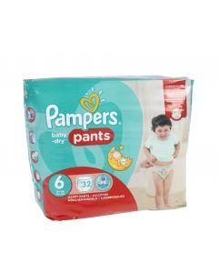 Pampers Baby Dry Pants S6 15+ kg housuvaippa 32 kpl