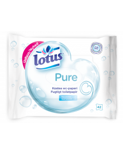 Lotus kostea wc-paperi Pure 42 kpl