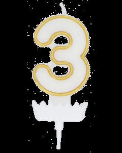 Numerokynttilä 3 Kulta
