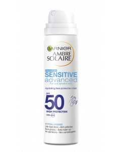 Ambre Solaire 75ml Sensitive Advanced SK50 kosteuttava aurinkosuojasumute kasvoille