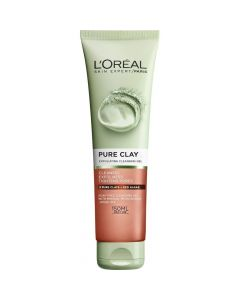 L'Oréal Pure Clay Exfoliatin cleansing gel 150 ml