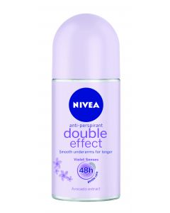 NIVEA Double Effect Deo Roll On -antiperspirantti 50 ml