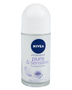 NIVEA Pure & Sensitive Deo Roll-On -antiperspirantti 50 ml
