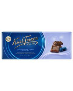 Karl Fazer 190g mustikkajogurtti suklaalevy