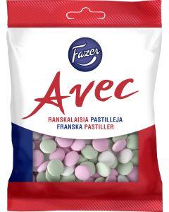 Avec150g ranskalaisia pastilleja maitosuklaarae