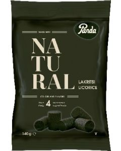 Panda Natural Lakritsi 140g lakritsi