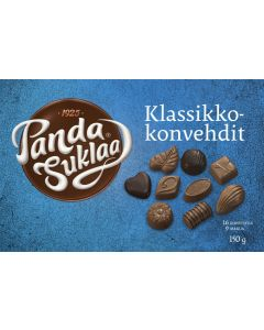 Panda Klassikko Suklaakonvehteja 150g