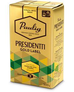 Presidentti Gold Label 500g hienojauhettu kahvi