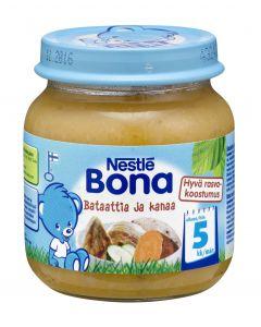Nestlé Bona 125g Bataattia ja kanaa lastenateria 5kk