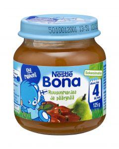 Nestlé Bona 125g Ruusunmarjaa ja päärynää marja- ja hedelmäsose 4kk