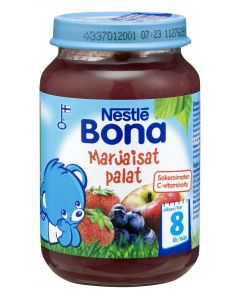 Nestlé Bona 200g Marjaisat palat marja- ja hedelmäsose 8kk