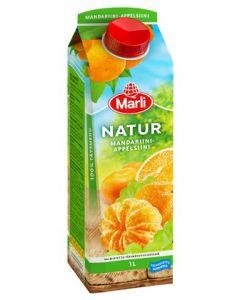 Marli Natur 1L Mandariini-appelsiini täysmehu 100%