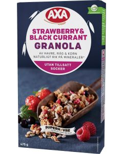 AXA 475g Granola Strawberry & Black currant