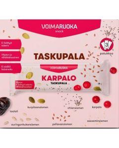 Voimaruoka Taskupala Karpalo välipalapatukka 3X35g