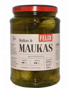 Felix 1500|730g maustekurkku kokonainen