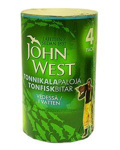John West 4x145g Tonnikala vedessä