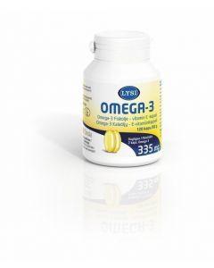 Lysi 120 kapselia 82g Omega-3 E-vitamiini ravintolisä