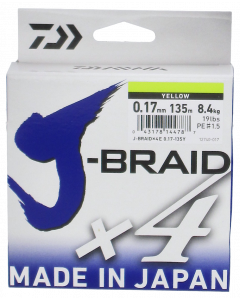 Daiwa J-Braid X4 kuitusiima 0,17 mm