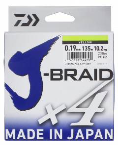 Daiwa J-Braid X4 kuitusiima 0,19 mm