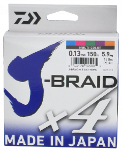 Daiwa J-Braid X4 kuitusiima 0,13 mm
