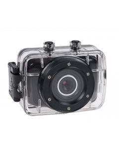 HD-action-kamera, 720p, vedenpitävä kotelo