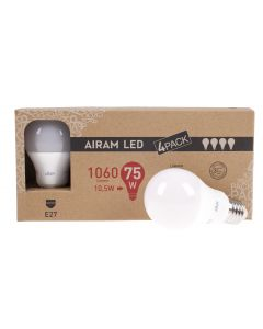 Airam led mainoslamppu E 27, 10,5W, 1060lm, 4-pack