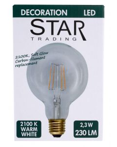 Star trading led poplamppu 95 mm E27