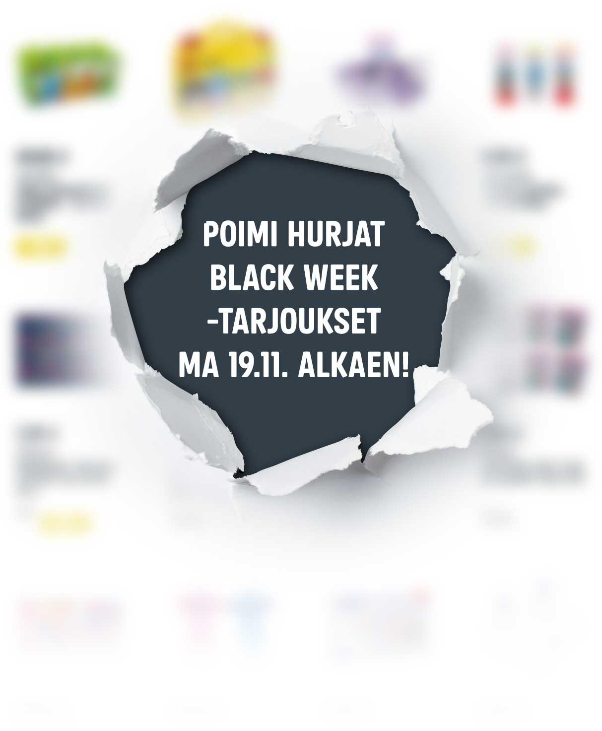 Black Week - ländärin tuote - teaser