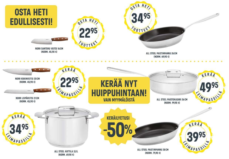 Fiskars keräilykampanja (ländäri tuotteet)