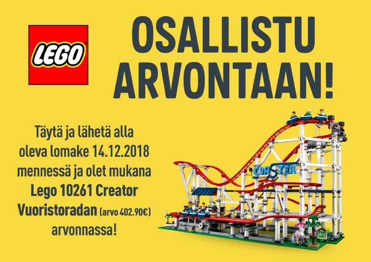 Osallistu Lego Vuoristoradan arvontaan!