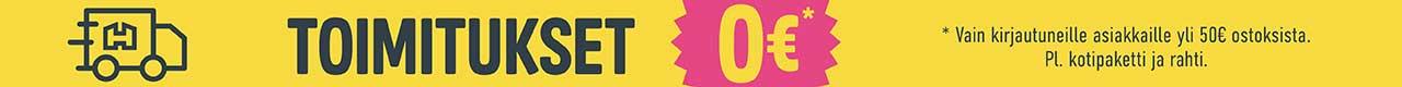 Läpisivuston banneri - Toimitukset 0 e